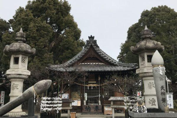 教養堂前夜 江南の北野天神社にお参りする。